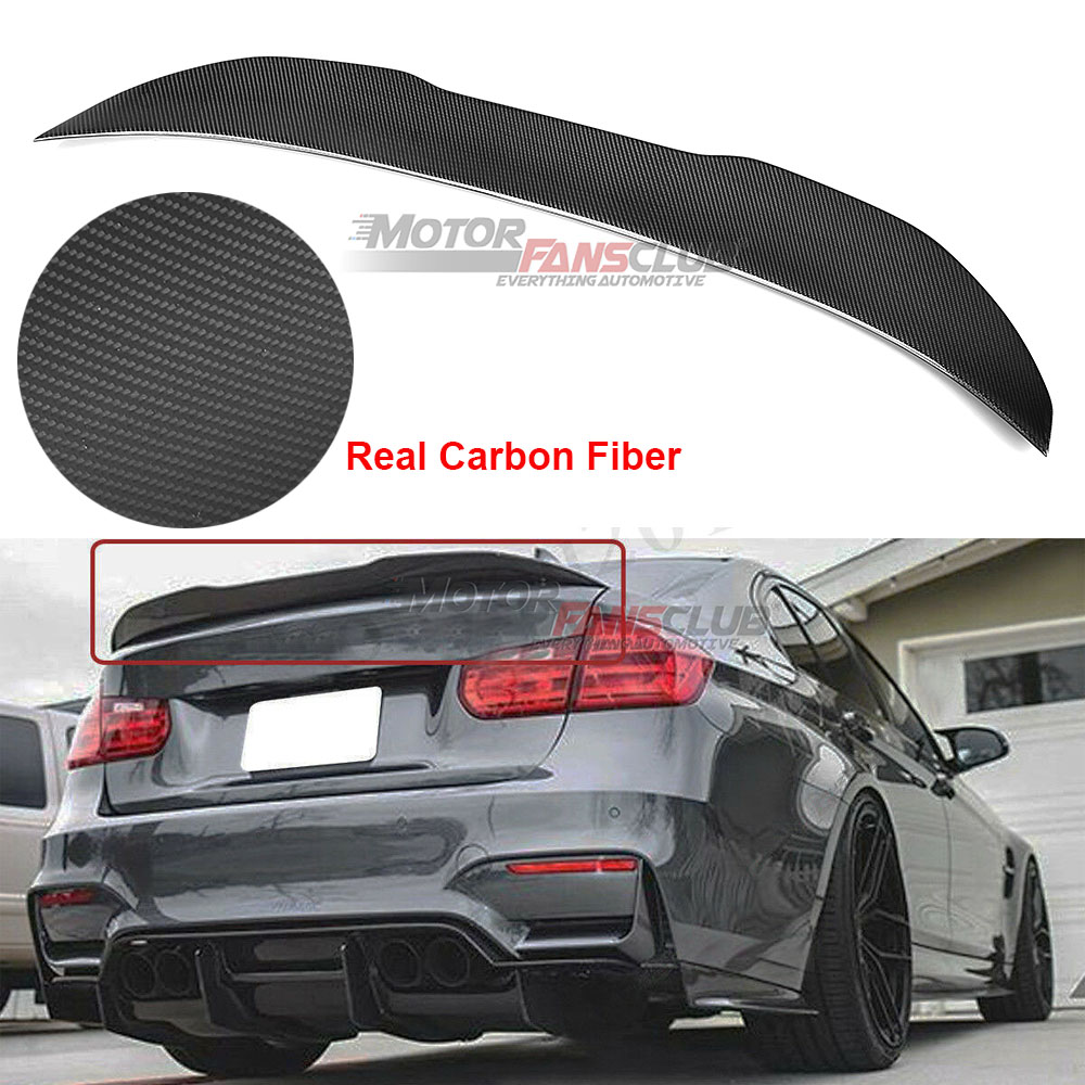 Carbon Fiber Trunk Spoiler Fits for 2012-2018 BMW F80 F30 3 Series Sedan M3