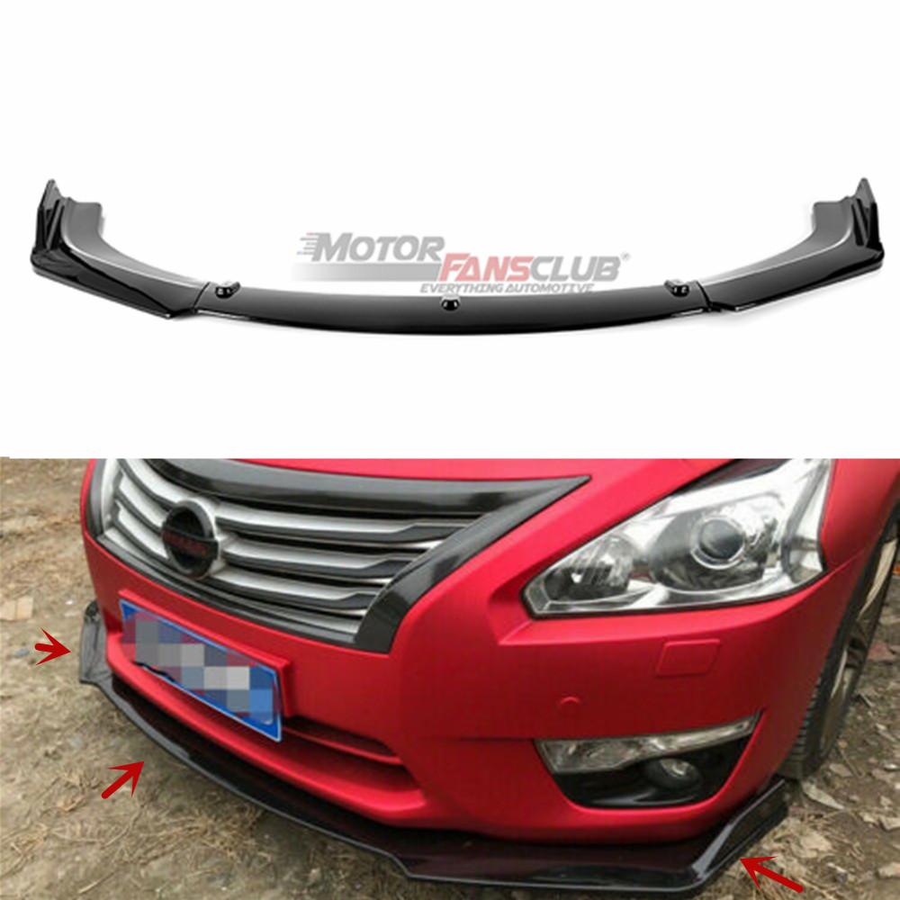 Black MotorFansClub 3pcs Front Bumper Lip Splitter for Mazda 3 Axela 2014-2018 Trim Protection Kit Splitter Spoiler