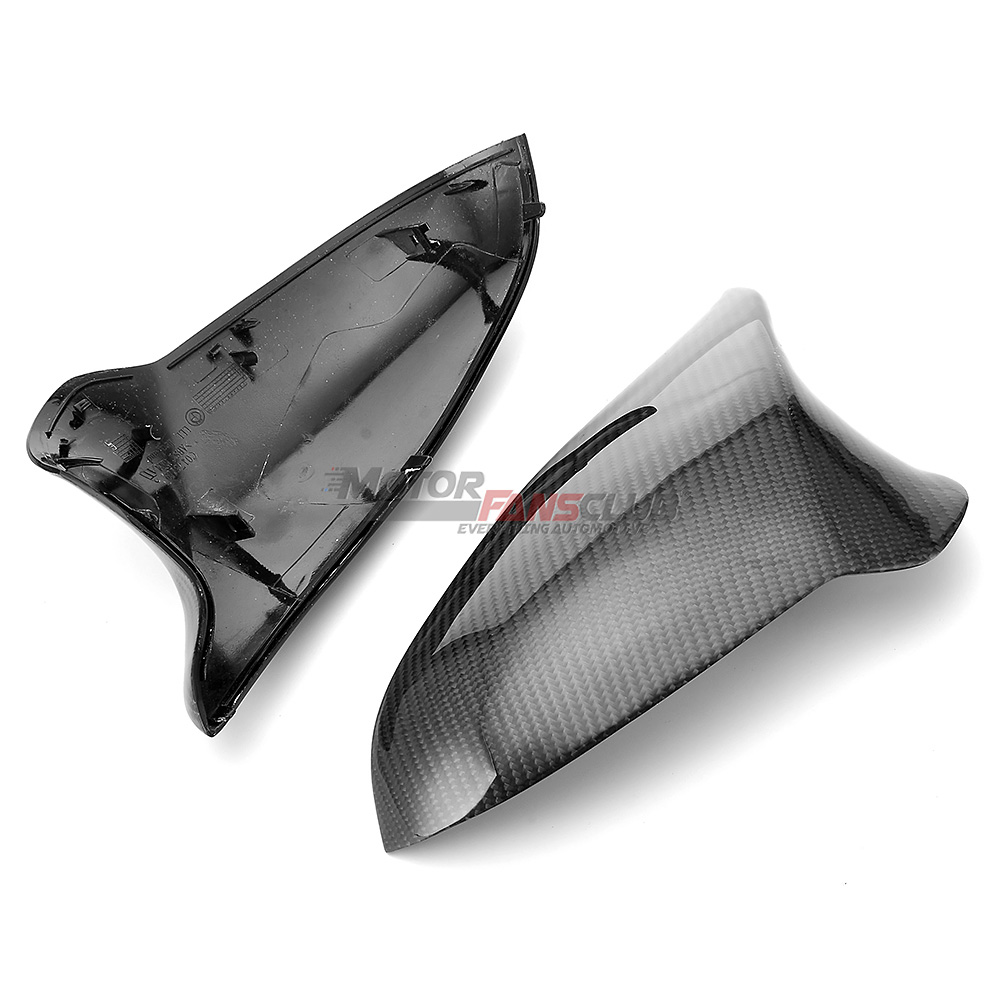 MotorFansClub Side Mirror Cover Caps Fit for Compatible with BMW F80 M3 F82 M4 2015 2016 2017 2018 Real Carbon Fiber