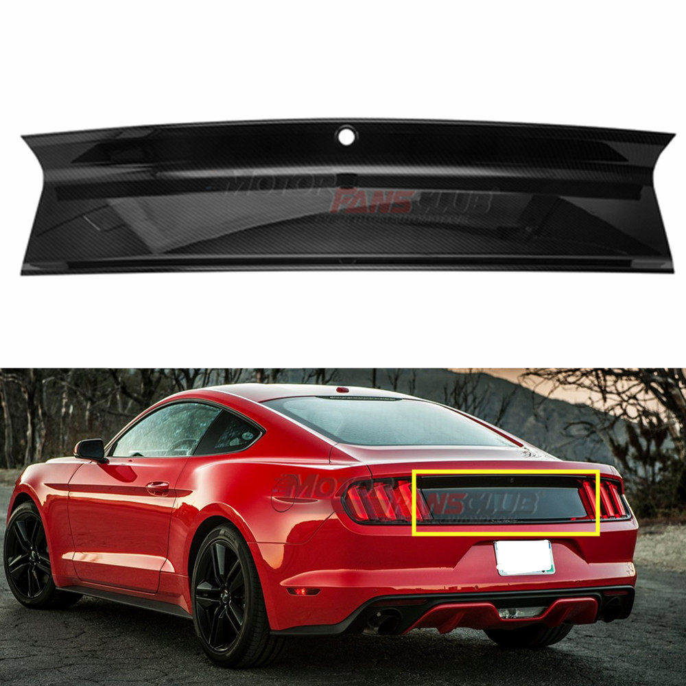 MotorFansClub Rear Spoiler Trunk Wing for 2015-2018 Ford Mustang S550 GT GT350 350R Track Pack Style Real Carbon Fiber